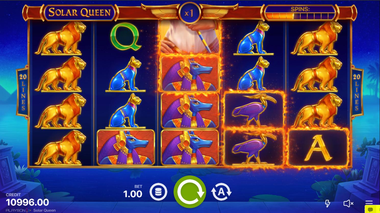 правила игры в слот Solar Queen